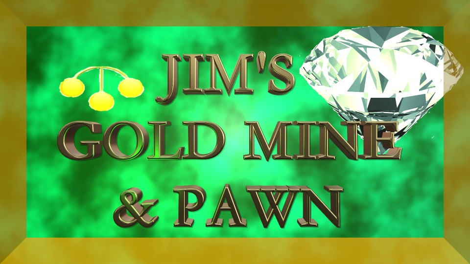 Jim's Gold Mine and Pawn Shop Logo